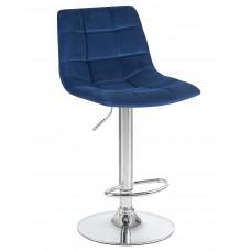 Барный стул LM-5017 синий велюр