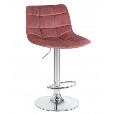 Барный стул LM-5017 пудово-розовый велюр