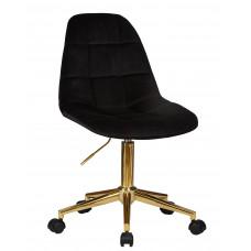 Офисный стул LM-9800 GOLD Черный велюр