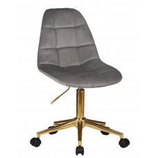 Офисный стул LM-9800 GOLD Серый велюр