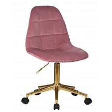 Офисный стул LM-9800 GOLD Розовый велюр