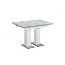 Стол Clyde 110-166*75 бетон/белый