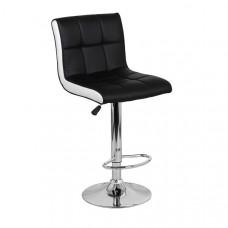 Барный стул Олимп Черный с Белым