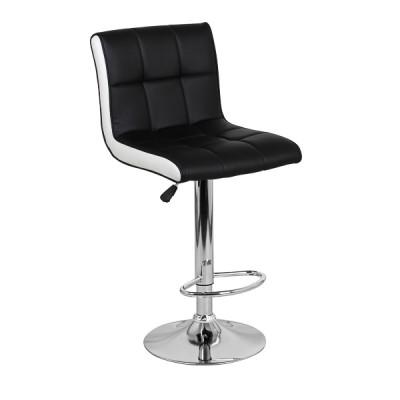 Барный стул Олимп Черный с Белым WX-2318B