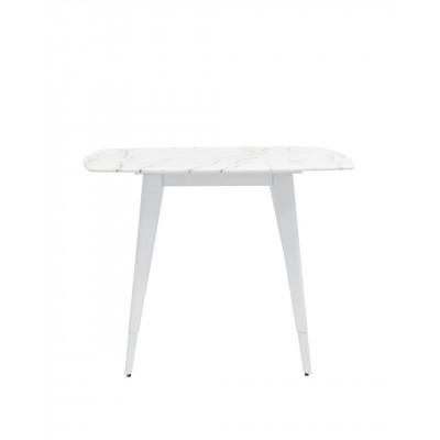 Стол обеденный Ричмонд 100*100 белый стеклянный