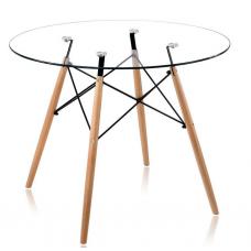 Стол обеденный В-06-01 (Прозрачное стекло)