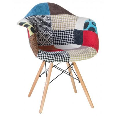 Кресло Eames DSW пэчворк