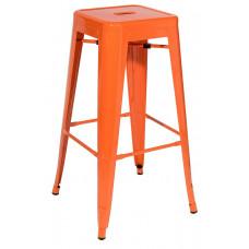 Стул барный TOLIX оранжевый глянцевый